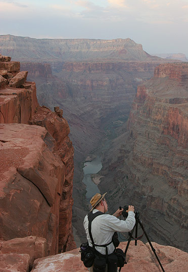 Dr. Netzley Photographing the Grand Canyon