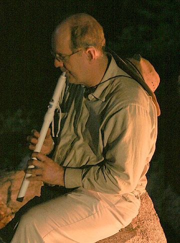 Dr. Netzley Playing The Flute
